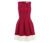 Kleid 'Contrast Hem Skater' rot / weiß