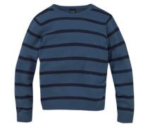 Pullover für Jungen himmelblau / schwarz