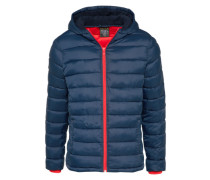 Casual Steppjacke navy / hellrot