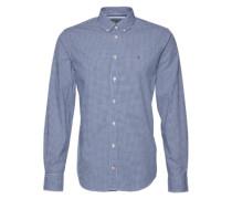 Hemd mit Button-Down-Kragen 'Devan' blau