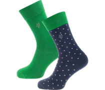 Socken 'Ida' nachtblau / grün