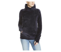 Sweatshirt in Samtoptik nachtblau