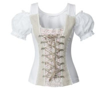 Shirt 'Milena' beige / rosa / weiß