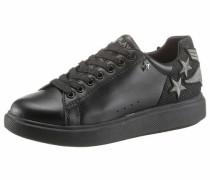 Sneaker 'Sako' schwarz / silber