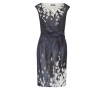 Kleid mit Muster blau