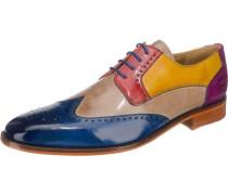 Jeff 14 Business Schuhe beige / blau / mischfarben