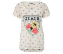 T-Shirt Wappen Sterne beige