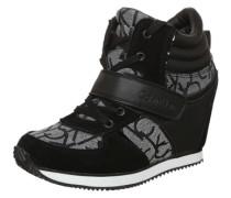 High Sneaker 'Viridiana' schwarz / silber