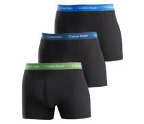 Basic Boxer im 3er Pack blau / türkis / grün / schwarz