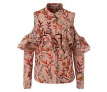Bluse mit Off-Shoulder-Detail orange / pink