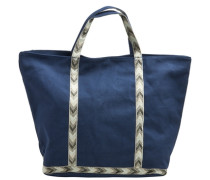 Leinen-Tasche blau