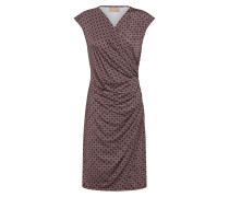 Kleid hellbraun / rotviolett