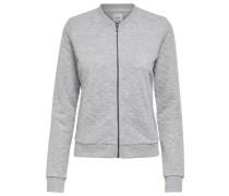 Sweater-Bomberjacke 'joyce' graumeliert
