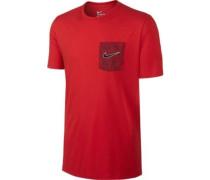 T-Shirt 'Palm' rot