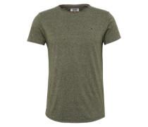 T-Shirt in Melange-Design dunkelgrün