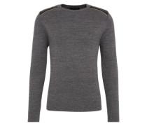 Pullover mit Zippern dunkelgrau