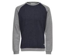 Sweatshirt Kontrastreiches blau