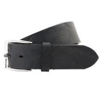 Ledergürtel mit Dornschließe 'B-whyz' schwarz