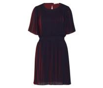 Plissee-Kleid 'Lou' nachtblau / bordeaux