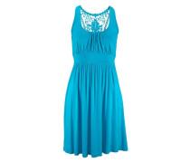 Strandkleid mit Spitzenrücken blau