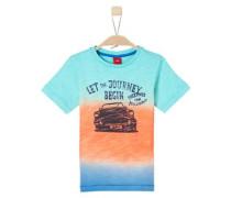 T-Shirt blau / orange