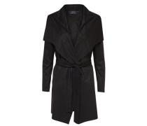 Wildlederlook-Mantel schwarz
