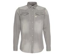 Langärmeliges Hemd 'tacoma' grau