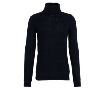 Pullover 'struct funnel' navy