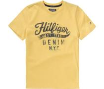 T-Shirt für Jungen Organic Cotton gelb