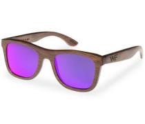 Sonnenbrille mit 'UV 400 Sonnenschutz' braun / lila