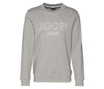 Sweatshirt 'Alfred' hellgrau / weiß