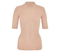 Lurex-Pullover aus Rippstrick nude