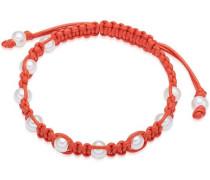 Armband orange / perlweiß