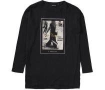 Langarmshirt für Mädchen beige / gold / schwarz