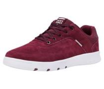 Trendige Sneaker weinrot