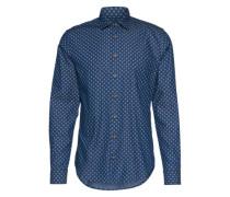 Hemd mit Indigo-Färbung 'Epop' dunkelblau