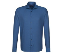 City-Hemd 'Tailored' blau / petrol