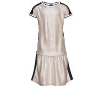 Kleid mit kurzen Ärmeln navy / gold