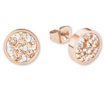 Paar Ohrstecker mit Swarovski Kristallen »So1426/1« rosegold