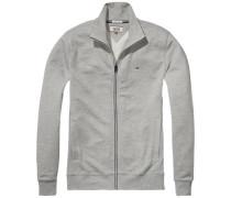 Sweatshirt 'thdm Basic RIB Zipthru L/S 42' grau