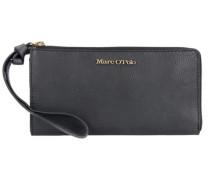 'Zip Wallet L' Geldbörse Leder 20 cm schwarz