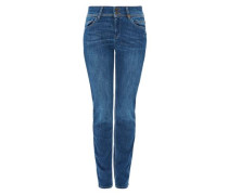 'Shape Slim Used-Jeans' blue denim