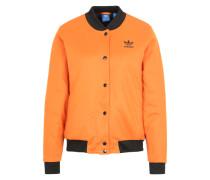 Bomberjacke mit Wattierung orange / schwarz