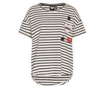 Oversized T-Shirt 'TS Badge' weiß