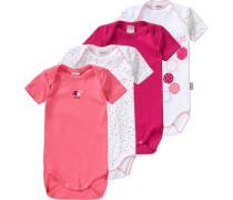 Bodys 4er-Pack für Mädchen mint / pink / rosa / schwarz / weiß