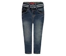 Jeans mit Gürtel blau