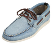 Mokassins in Jeans-Optik hellblau