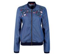 Jeans-Blouson mit Stickerei blue denim