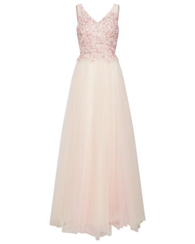 Abendkleid 'Beads Dress' champagner / rosa