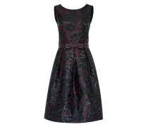 Jacquard-Kleid mit Ripsgürtel mischfarben